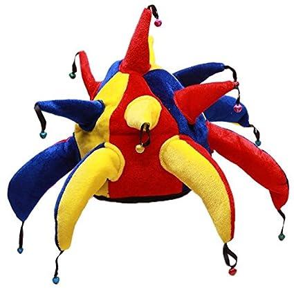 LUOEM Sombrero Disfraz de Bufón Adulto Gorro Payaso 499c35f00ec