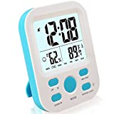 FAMICOZY Digital Alarm Clock for Boys Kids Teens,Desk Nightstand Clock with Crescendo Alarm,Repeating