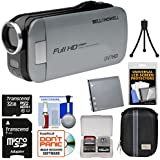 Bell & Howell Slice2 DV7HD 1080p HD Slim Video Camera Camcorder (Gray) with 32GB Card + Battery + Case + Tripod + Kit