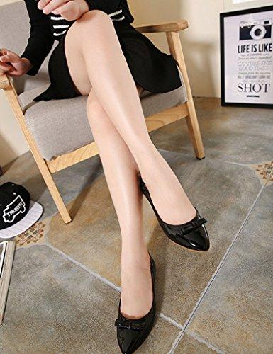 ... Closed Femme Ballerines Toe Respirante Décoration Pu Mineroad Chaussures  Plat Bowknot Camaïeu Noir Mode F8wq6xd ab365780d086