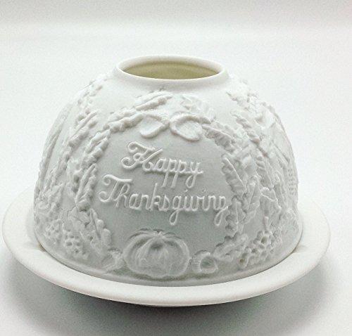 Bernardaud Votives - Bernardaud Thanksgiving Turkey Porcelain Lithophane Votive Light Candle Holder