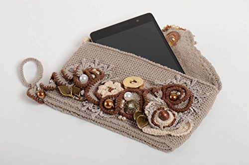 Crochet Phone Pouch Handmade Cases For Phone Designer Accessories Gifts For Girl