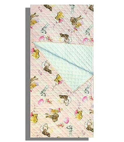 Saco dormir Guardería Conejos Impresión Digital Rosa 2 – 6 años