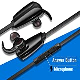 CellBee Wireless Bluetooth Earbuds Headphones with Built in Mic,Sports Kits,Stereo Heavy Bass Sounds Effects Headset-Jet Black