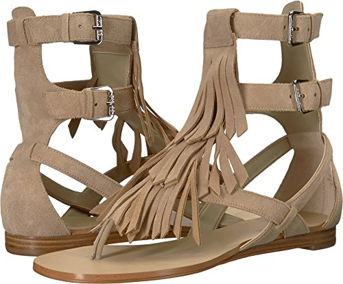 Guess Women's Bari Flat Sandal,Medium Natural Suede,7.5 M US (Guess Sandals Strap Ankle)