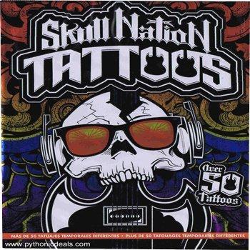 Skull Nation Temporary Tattoos, Over 50 Tattoos