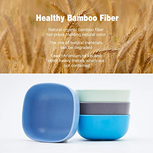 4pcs Bamboo Kids Bowls for Baby Feeding,Small Serving Bowls,Small Prep Bowls& Dinnerware Sets, Eco-Friendly Tableware for Baby Toddler Kids, 01