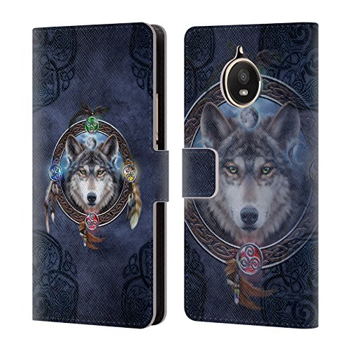 Official Brigid Ashwood Wolf Guide Celtic Wisdom Leather Book Wallet Case Cover For Motorola Moto E4 Plus