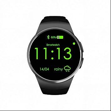 Frecuencia Cardíaca Activity Tracker relojes Capacitivos SIM SmartWatch pedometr con llamadas de notas reloj pulsómetro para el teléfono La Vigilanza llamadas para Android IOS: Amazon.es: Electrónica