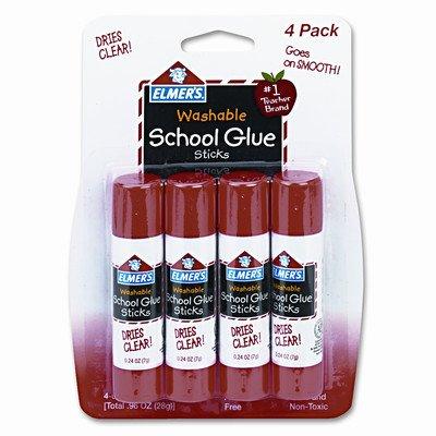 Washable All Purpose School Glue Sticks (4 Pack) [Set of (Halloween Adhesive)