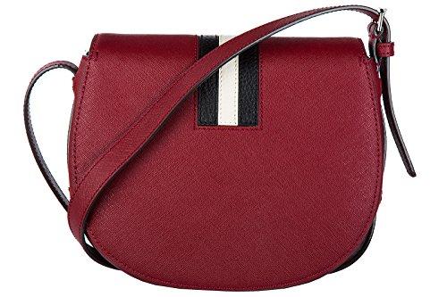 Bally borsa donna a tracolla pelle borsello supra xbody md rosso