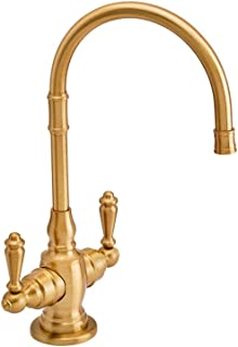 product image for Waterstone 1202HC-SB Pembroke Hot and Cold Filtration Faucet - Lever Handle Satin Brass