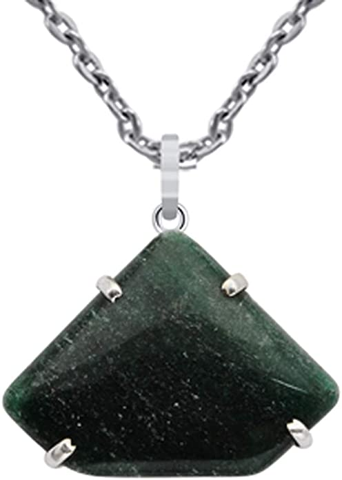 Daughter And The Women In Your Life For Christmas Gemstone A Unique Gift Idea For Wife Orchid Jewelry 60 Ctw Natural Heart Green Serpentine Sterling Silver Pendant An 18 Inch Chain Necklace