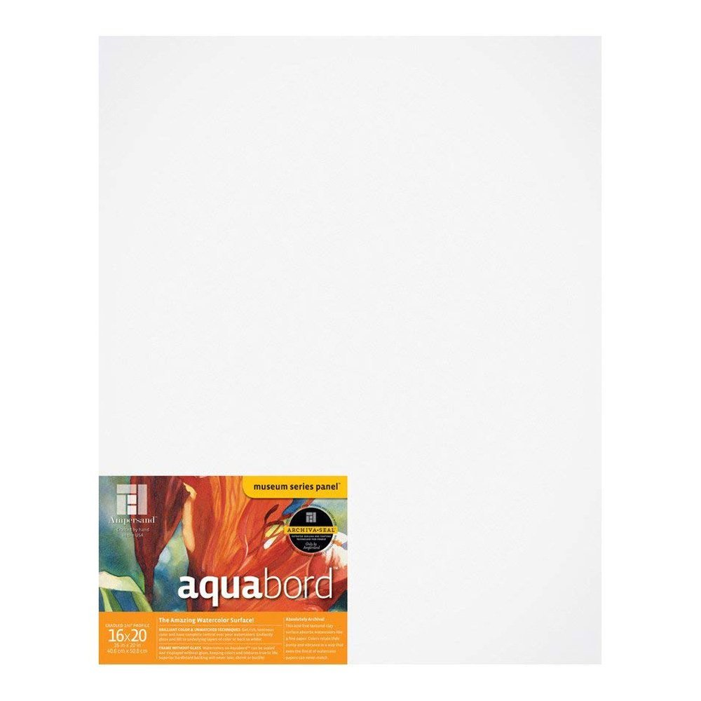 8X10 Inch CBTC0810 Ampersand Aquabord Panel for Watercolor and Gouache 7//8 Inch Depth