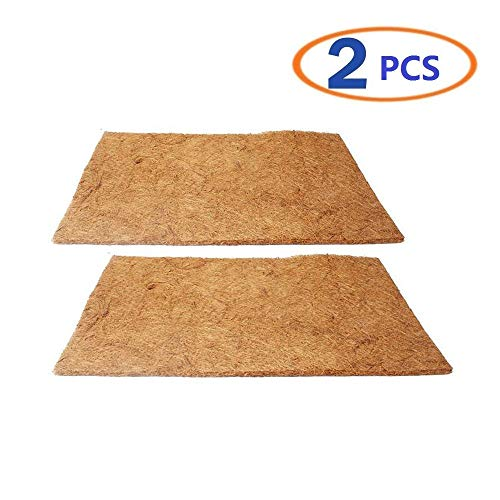 (Hamiledyi Reptile Carpet Natural Coconut Fiber Carpet Mat for Pet Terrarium Liner Reptile Supplies for Lizard Snake Chamelon Turtle Bedding Bunny Rabbit Mat (2sheets))