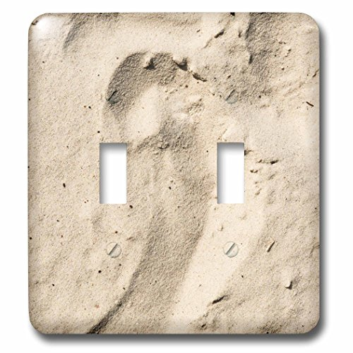 (3dRose lsp_271946_2 Dry beige color beach sand with an impress of a bare foot Toggle)
