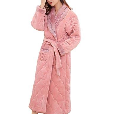 Batas De Baño Femeninas Bata Otoño Invierno Pijamas Calientes Hogar Loungewear: Amazon.es: Ropa y accesorios