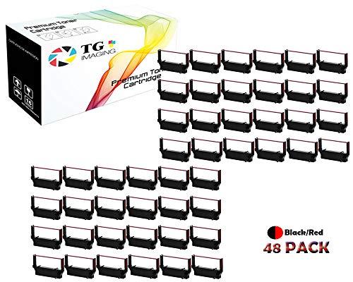 TG 48-Pack Compatible ERC30 ERC-30 ERC30 34 38 B/R Ribbon Cartridge for use in DPN2700, TMU370, TMU375, ERC38 NK506