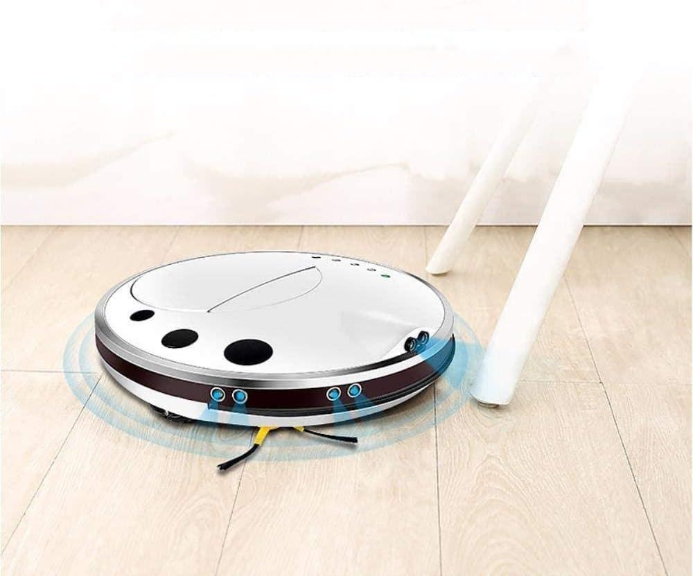 GSWF_OOEFC GENERICS Intelligent aspirateur Domestique capteur à ultrasons Application de téléphone Portable contrôle Intelligent Robot de Balayage Trois en Un-Blanc Blanc