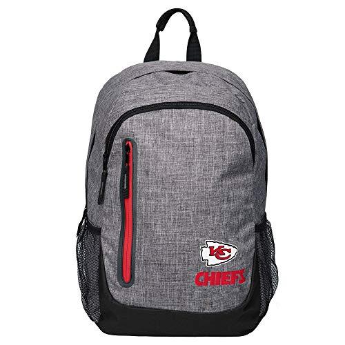 MISC Gray NFL Kansas City Chiefs Backpack Sports Team Logo School Bag College Picnic