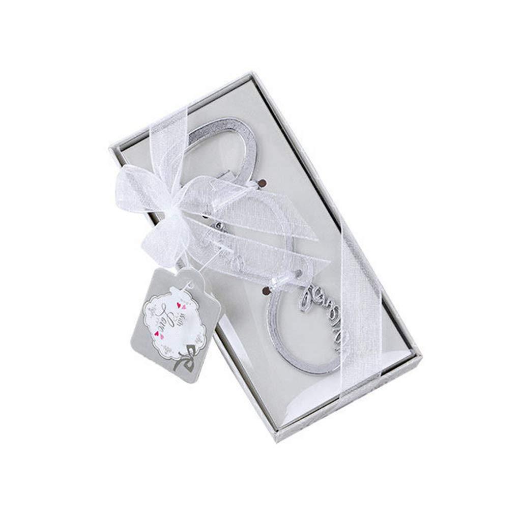 Lazder, apribottiglie creativo a forma di 8 bottiglie, in lega di zinco, portatile, souvenir di compleanno, regalo per feste, con squisita confezione