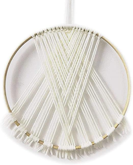 Gaeruite Tapicería de Punto, Atrapasueños de Punto de algodón Arte de Pared de macramé Tapices de Pared Tejidos a Mano para la Vida Atrapasueños: Amazon.es: Hogar