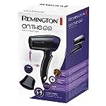 Remington-D2400-Asciugacapelli-da-viaggio-Manico-Pieghevole-2-temperature2-velocit-1400-W-Voltaggio-universale