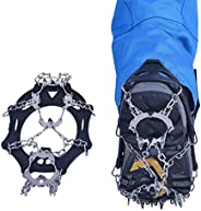 19 Teeth Non-Slip Shoe Cover Claw Crampons Snow Ice Walk Traction Cleats