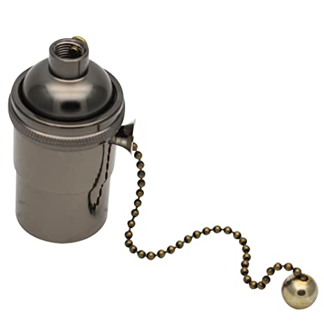 E27 Copper Vintage Retro Antique Edison Pendant Lamp Light Pull Chain Switch Holder Socket Screw Diy For Lamp Socket And Fixture Replacement