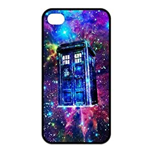 LeonardCustom Doctor Who Tardis Police Box Protective Hard Rubber Coated Cover Case for iPhone 4 & iPhone 4S -LCI4U639