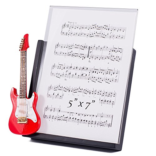 - Red Electric Guitar Decorative Classic Black 5x7 Picture Frame