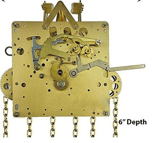 Grandfather Clock Movement by HERMLE 451-053H (Hand Shaft) with 75, 85, 94, 114 cm Gearing (94 cm)