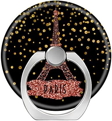 iPhone 6//7//8 Plus Phone Ring Stand Holder 360 Degrees Rotation Finger Ring Car Mount Hooks for iPhone X//Xr//Xs Max Galaxy S8//S9 Plus,Eiffel Tower Paris Rose Gold Glam Confetti dots