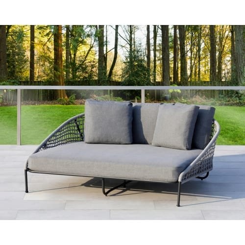 Ove Decors Indiana D D Outdoor Daybed, Grey For Sale
