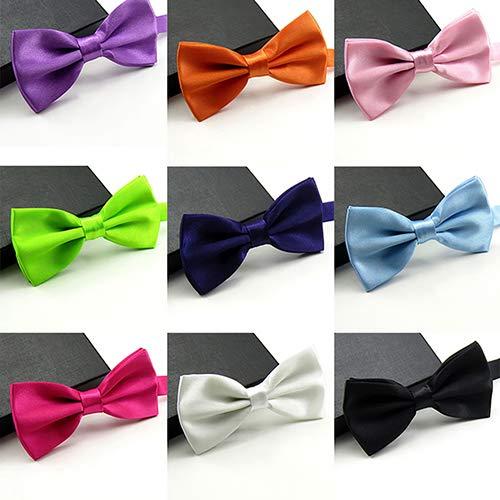 RIsxffp Hombres corbata multicolor corbata corbata clásico color ...