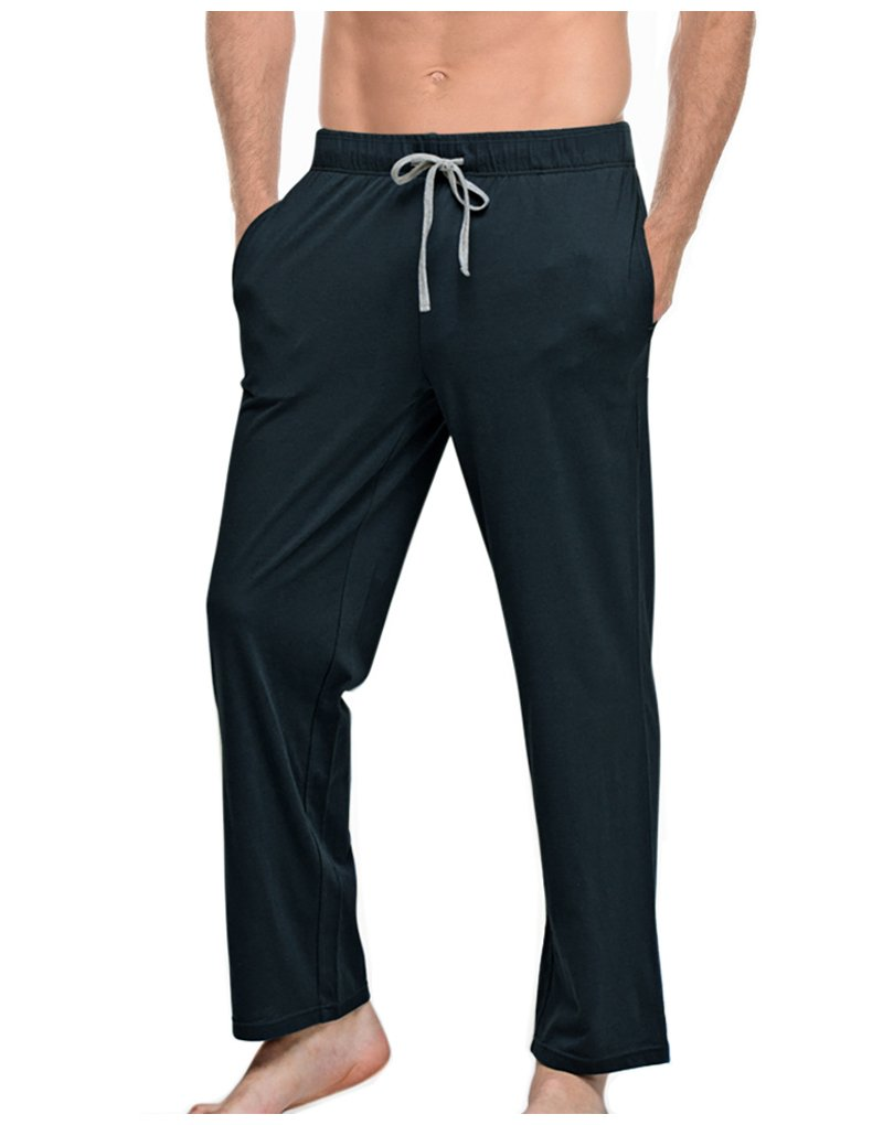 SUNNY SHOP Mens Pajama Pants Lightweight with Pocket 100% Cotton Men's Lounge Pants Pajama