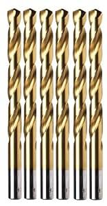 Irwin Tools 63718 9/32-Inch Titanium 135-Degree Jobber Length, 6-Pack