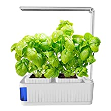 Indoor Hydroponics Grower Kit, Smart Herb Garden Kit Mini Plant Grow LED Light-Growing System With Self-Watering Pots, Swift to Desk Lamp for Reading - Seeds not Included
