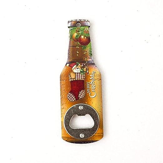 serie creativo botella abridor de madera de Navidad de impresión ...