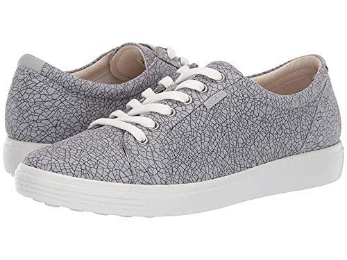 (ECCO Women's Soft 7 Sneaker, Magnet/Concrete, 38 M EU (7-7.5 US))