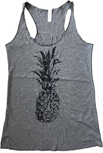 Friendly Oak Women's Pineapple Tank Top - XL - Heather - Womens Pineapple Tank Top