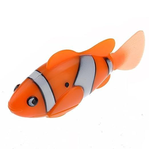Wa 1 pieza robusto juguete electrónico niños robotizados peces mascotas bebé baño mágico natación clownfish: Amazon.es: Bricolaje y herramientas