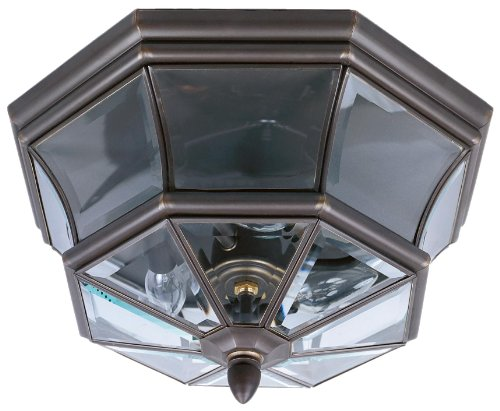 Quoizel NY1794Z Newbury 3-Light Outdoor Flush Mount, Medici