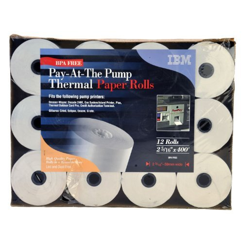 Pay-At-The Pump Thermal Paper Rolls - 12 - Thermal Ibm