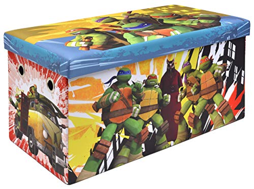 Teenage Mutant Ninja Turtles Storage Bench and Toy Chest, Officially Licensed, Perfect for any Playroom or -