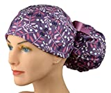 Womens Ponytail Surgical Scrub Hat Adjustable Large