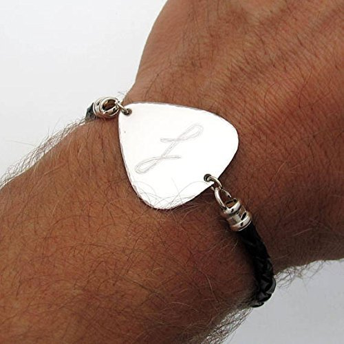 82b430f3888f Amazon.com  Guitar Pick Bracelet - Gift for musician - Personalized Gifts  for Him - Personalized Mens Bracelet - gift for recovery - Boyfriend Gift   ...