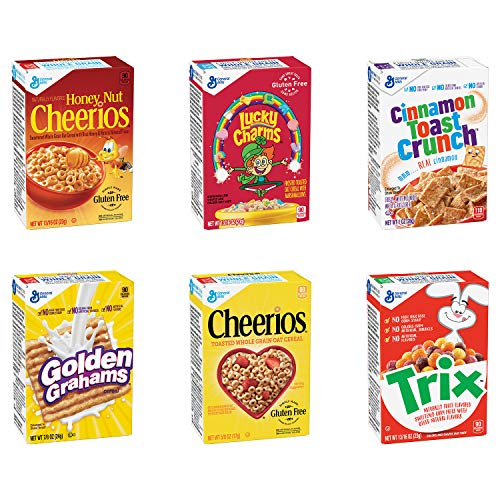 General Mills Cereals Assorted Favorites Cereal Singlepak Assortment, 70Count (Pack of 70)