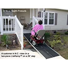 6 Foot Double Fold Literamp Detachable Portable Wheelchair Ramp