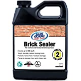 Premium BRICK SEALER Concentrate (2 Gal) - Clear Natural Finish, Penetrating Water Repellent Stops Wind Driven Rain, Moisture Damage & Stain Protection - Brick Walls, Chimneys, Patio, Pavers, Walkway